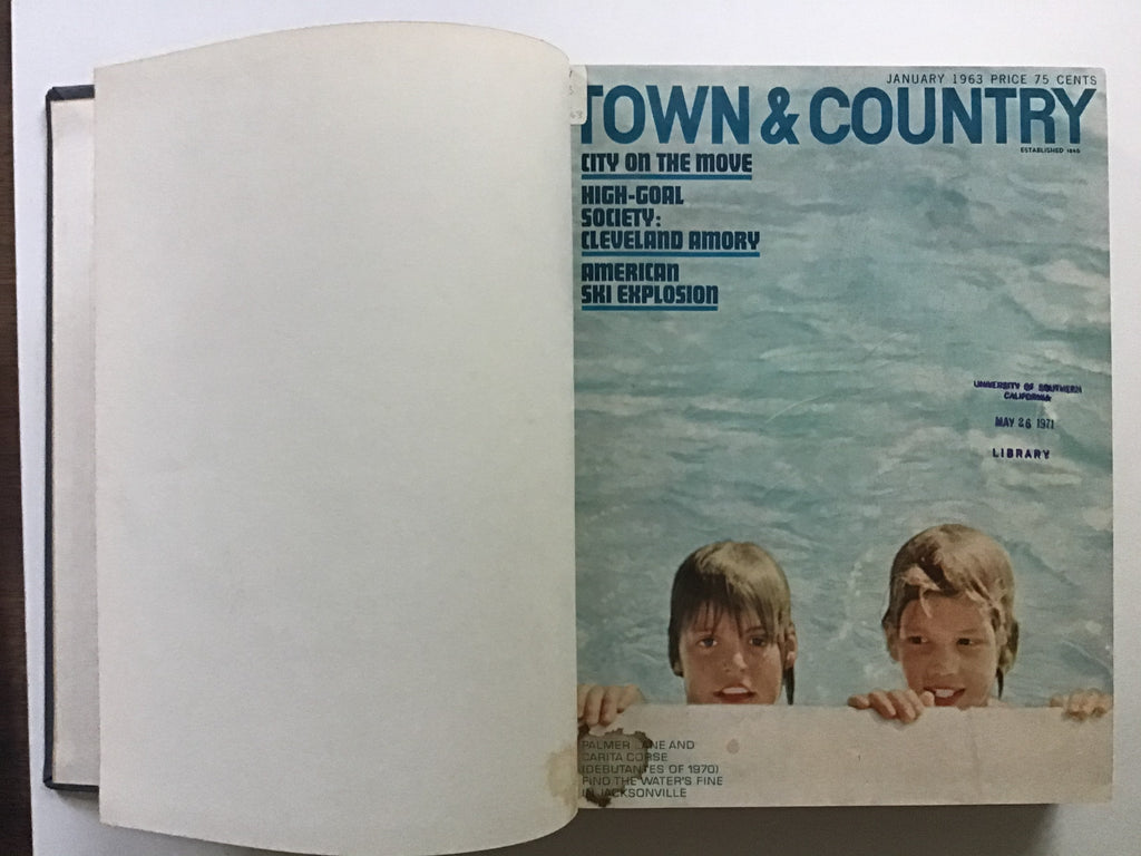 bound Town & Country magazines /January/ February / March / April / May / June  1963 Valerian Rybar