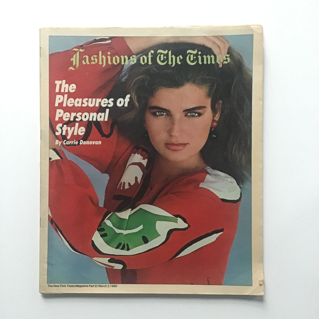 New York Times fashions of the times brooke shields