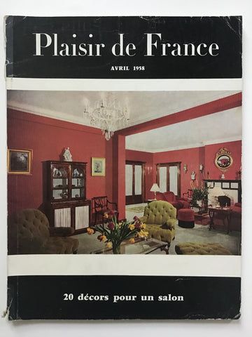 Plaisir de France Avril 1958