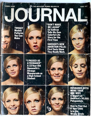 Ladies' Home Journal June 1967 Twiggy cover