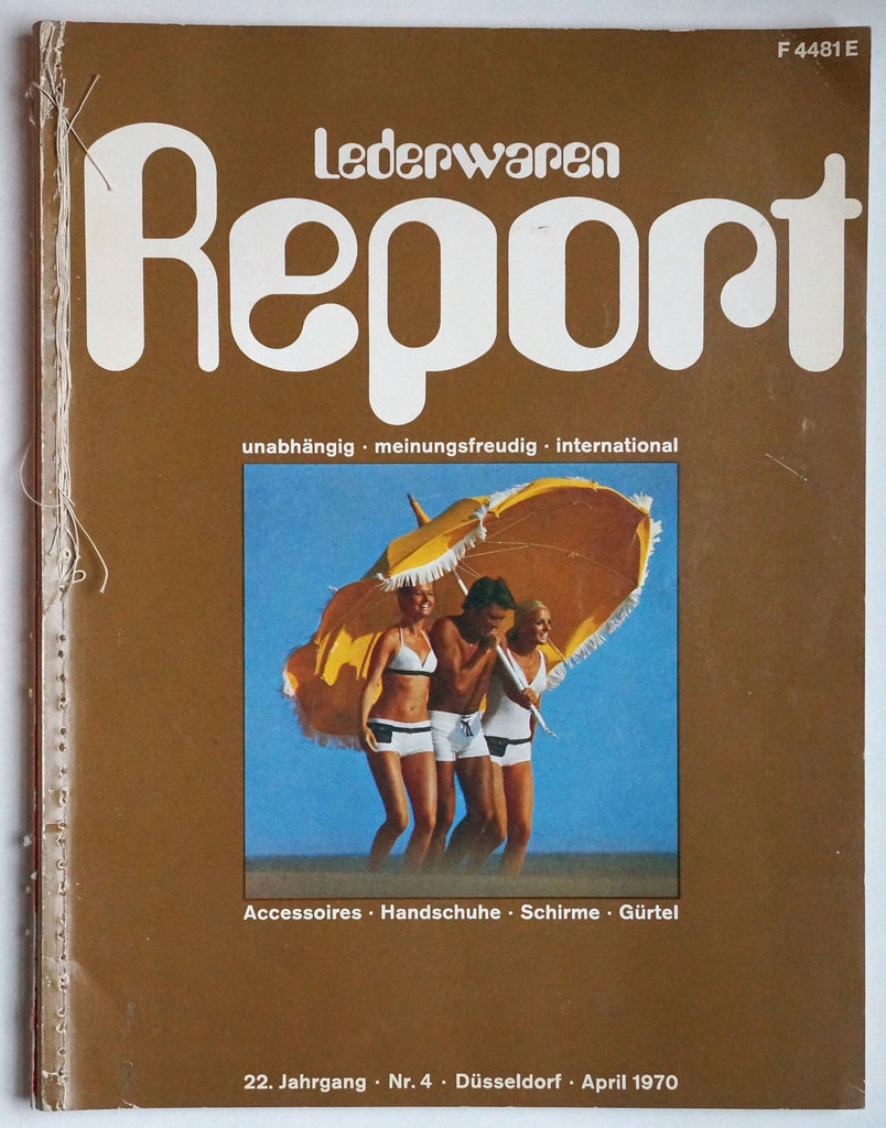 Lederwaren Report April 1970/ Leather Goods Report