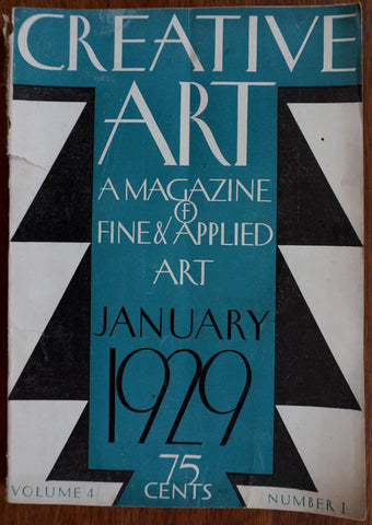 Creative Art January 1929