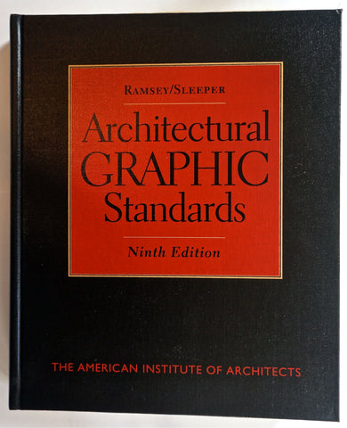Architectural Graphic Standards Ninth Edition