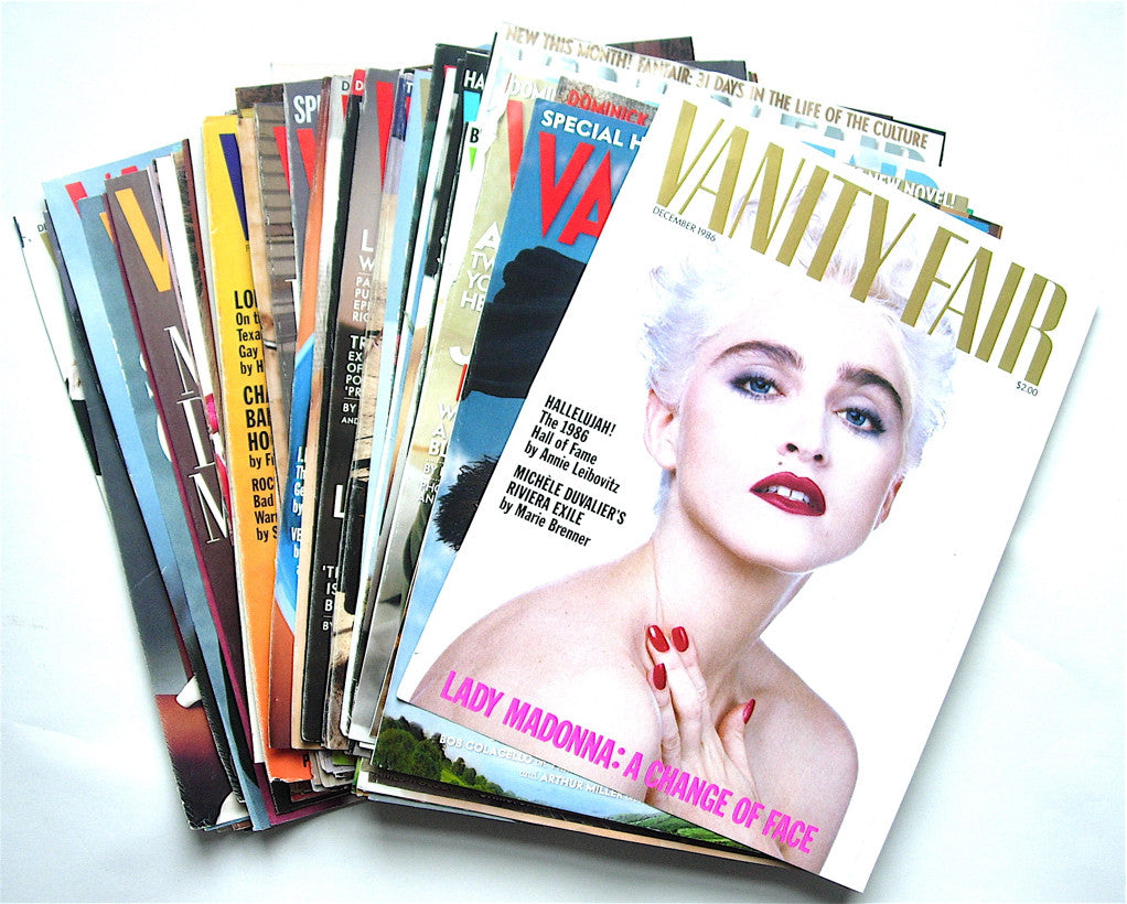 Vanity Fair- 155 covers  1986-2001