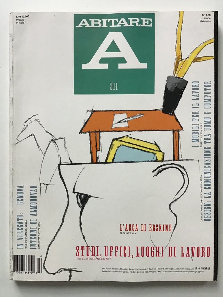 Abitare #311 studies, Offices, Work Spaces Ottobre 1992