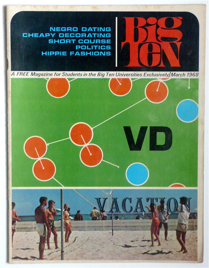 Big Ten magazine March 1968  VD/ Vacation