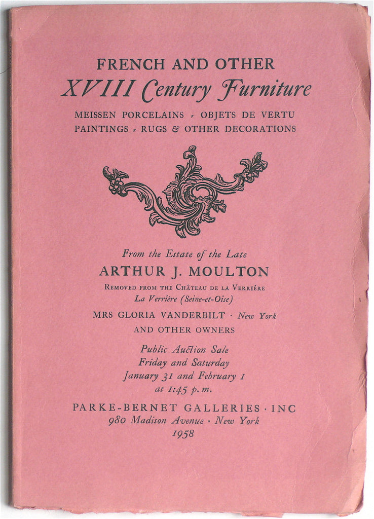 French and Other XVIII Century Furniture