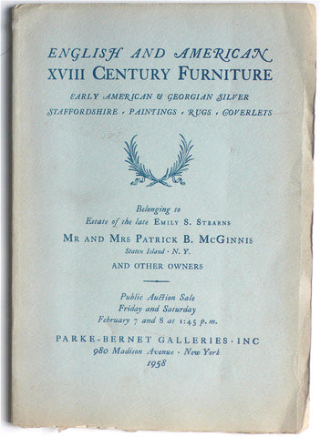 English & American XVIII Century Furniture