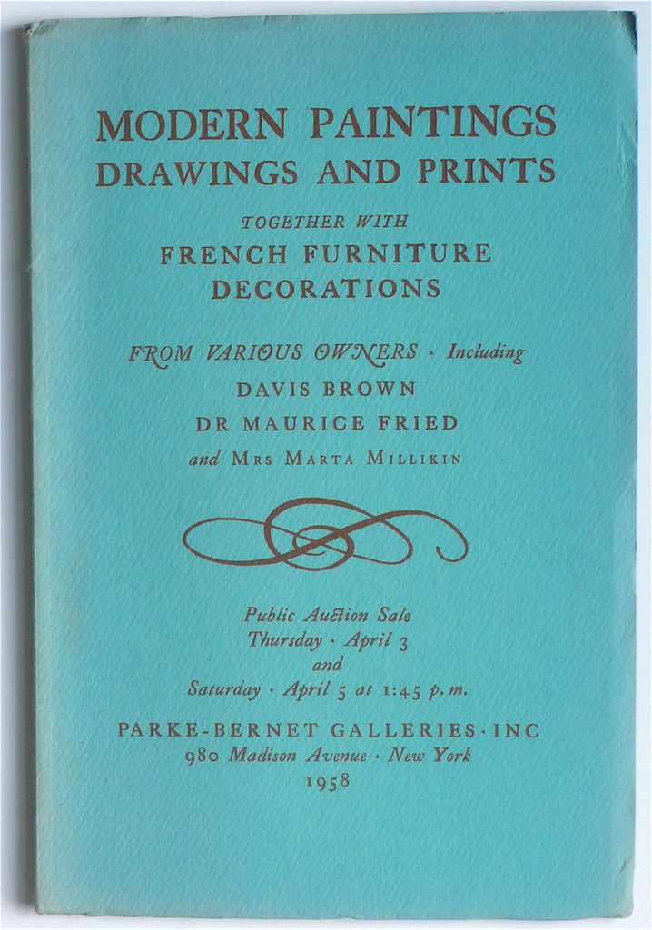 Modern Paintings, Drawings and Prints, Together With French Furniture Decorations