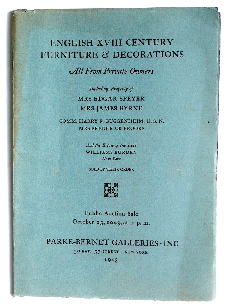 English XVIII Century Furniture & Decorations