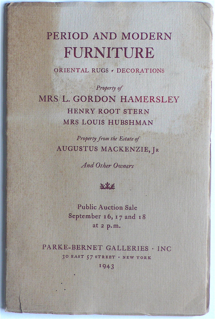 [Eugene Schoen]  Period and Modern Furniture