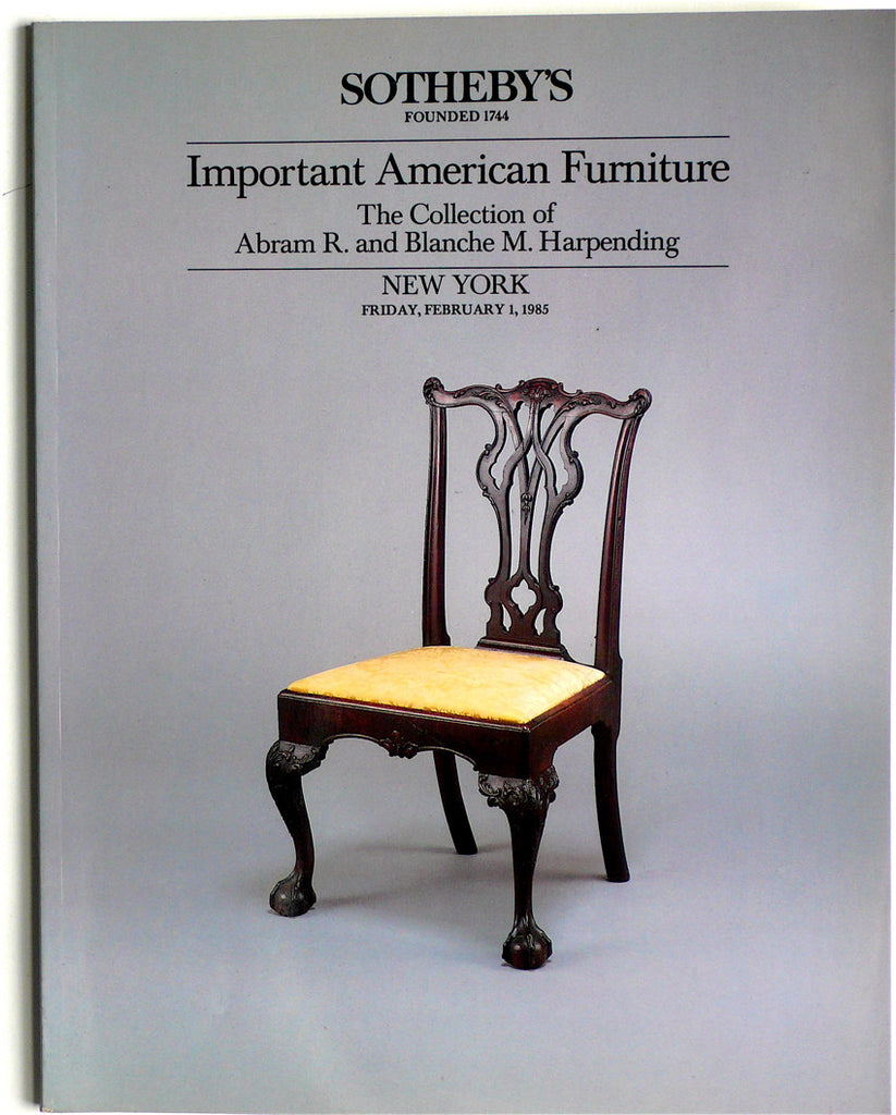 Important American Furniture: The Collection of Abram R and Blanche M. Harpending