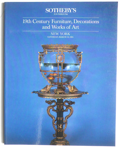 19th Century Furniture, Decorations and Works of Art