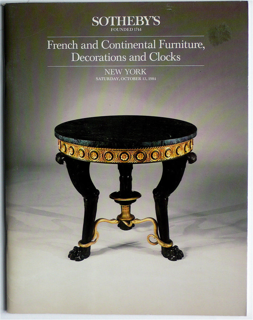 French & Continental Furniture & Decorations and Clocks