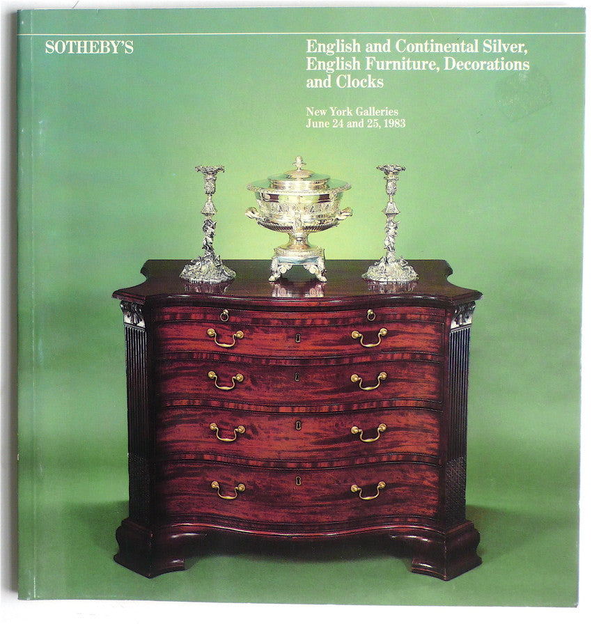 English & Continental Silver, English Furniture, Decorations and Clocks