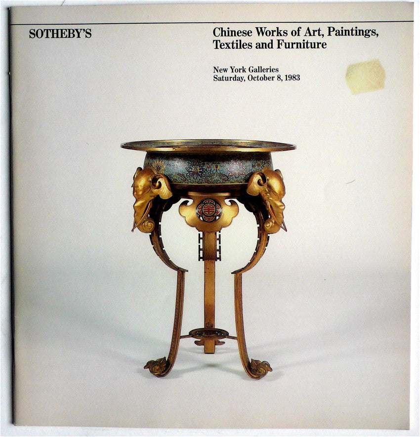 Chinese Works of Art, Paintings, Textiles and Furniture