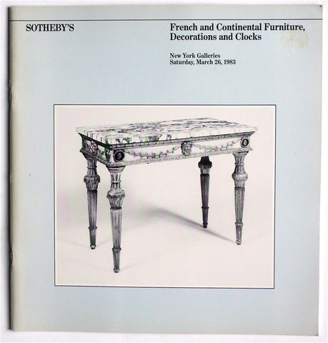 French & Continental Furniture, Decorations and Clocks