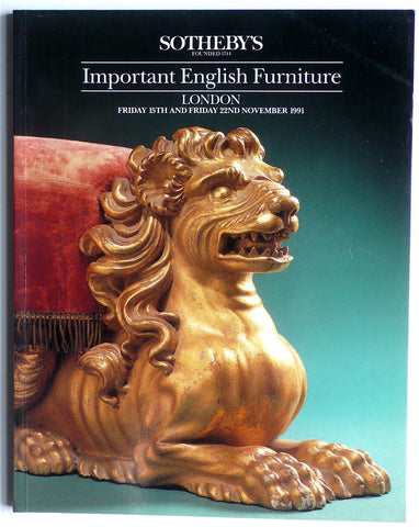 Important English Furniture/ London