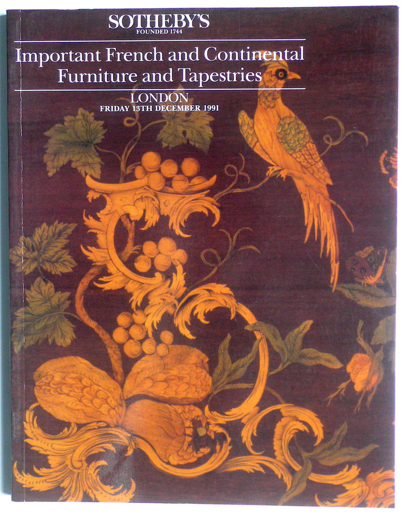 Important French and Continental Furniture and Tapestries