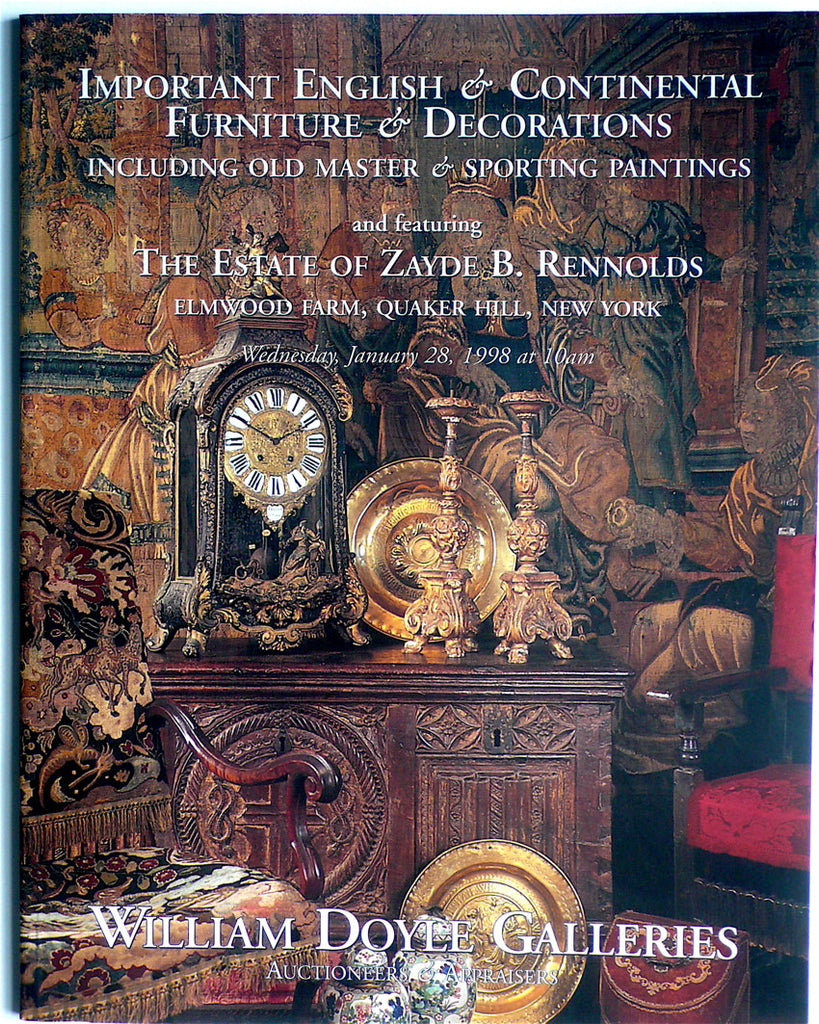 Important English & Continental Furniture & Decoration Including Old Master & Sporting Paintings
