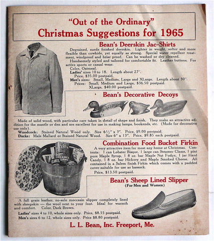L. L. Bean catalogue 1965