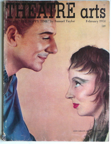 Theatre Arts February 1951/ Richard Avedon cover