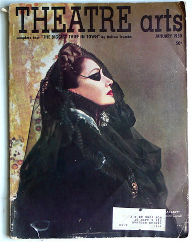 Theatre Arts January  1950/ Richard Avedon cover