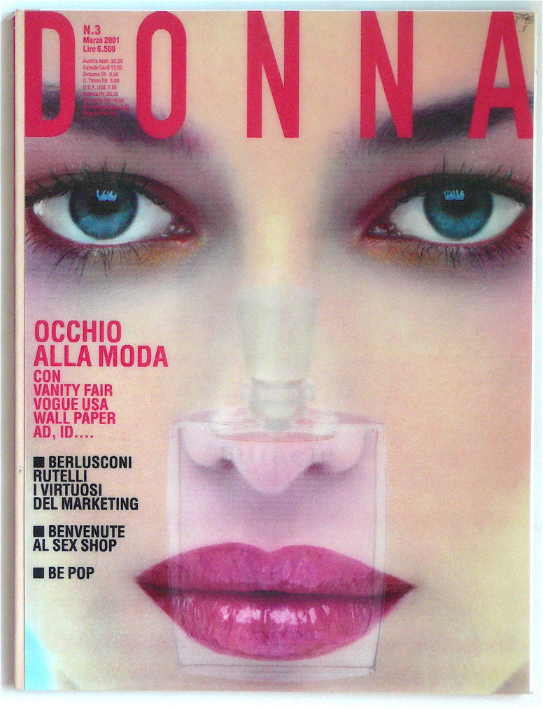 Donna fashion magazine with holographic cover March 2001