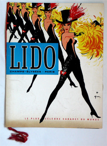 Lido program with Rene Gruau cover