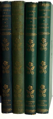 four pretty green/blue volumes from the Phoenix Library