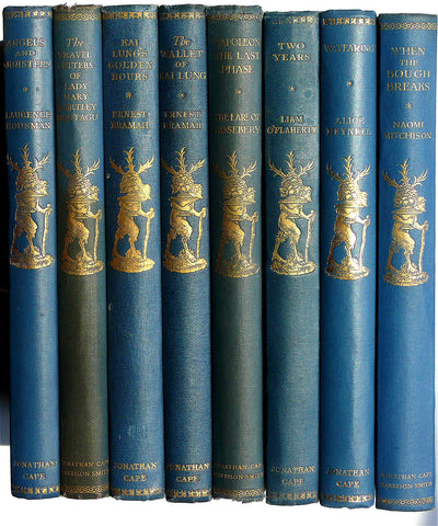 eight handsome volumes from The Traveller's Library