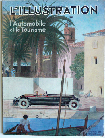 L'Illustration Octobre 1933 'L'Automobile et le Tourisme'