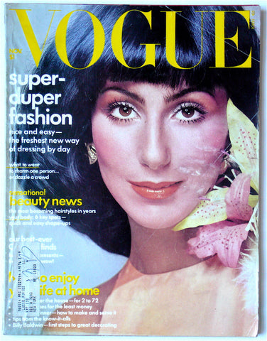 Vogue November 1974  Cher on cover