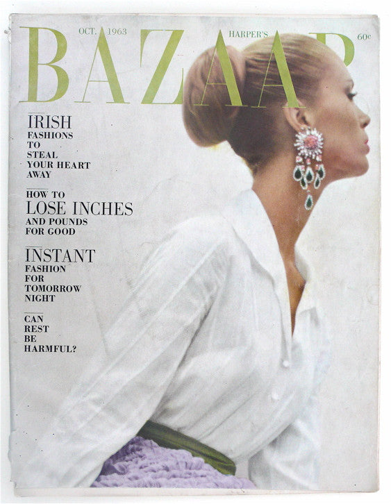 Harper's Bazaar October 1963  Saul Leiter cover