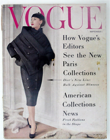 Vogue September 1, 1955  Henry Clarke cover