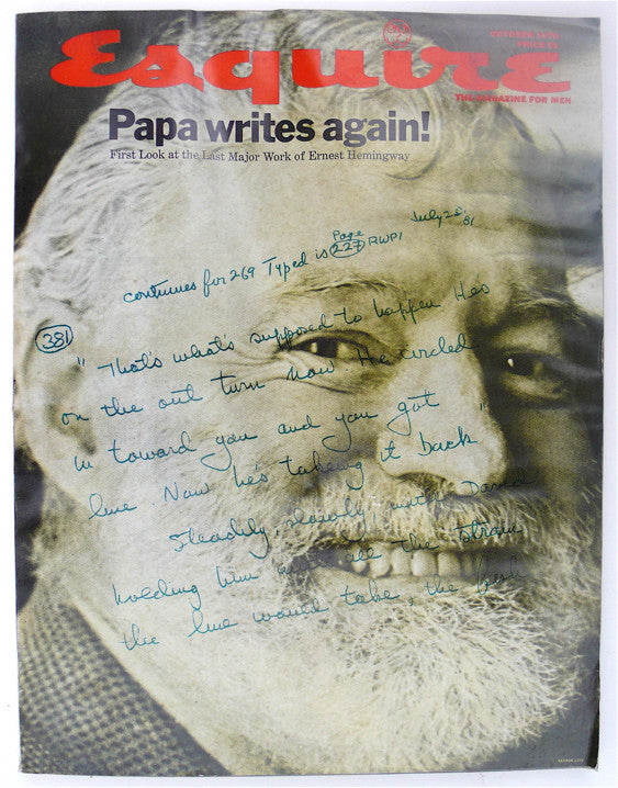 """Papa Writes Again!""  Esquire October 1970"
