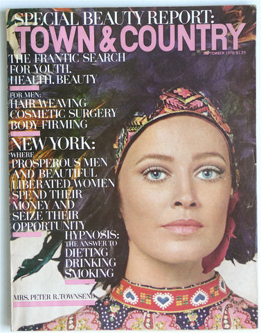 Town & Country September 1970  Blackglama
