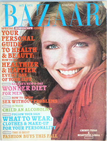 Harper's Bazaar October 1975  Cheryl Tiegs