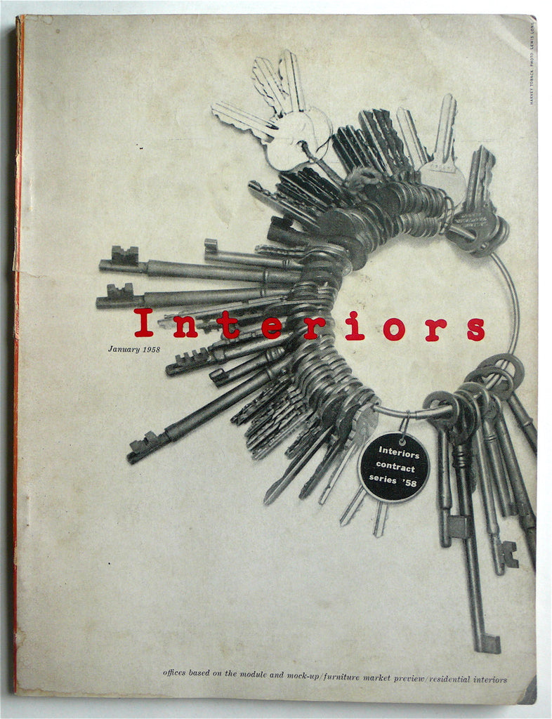 Interiors magazine January 1958