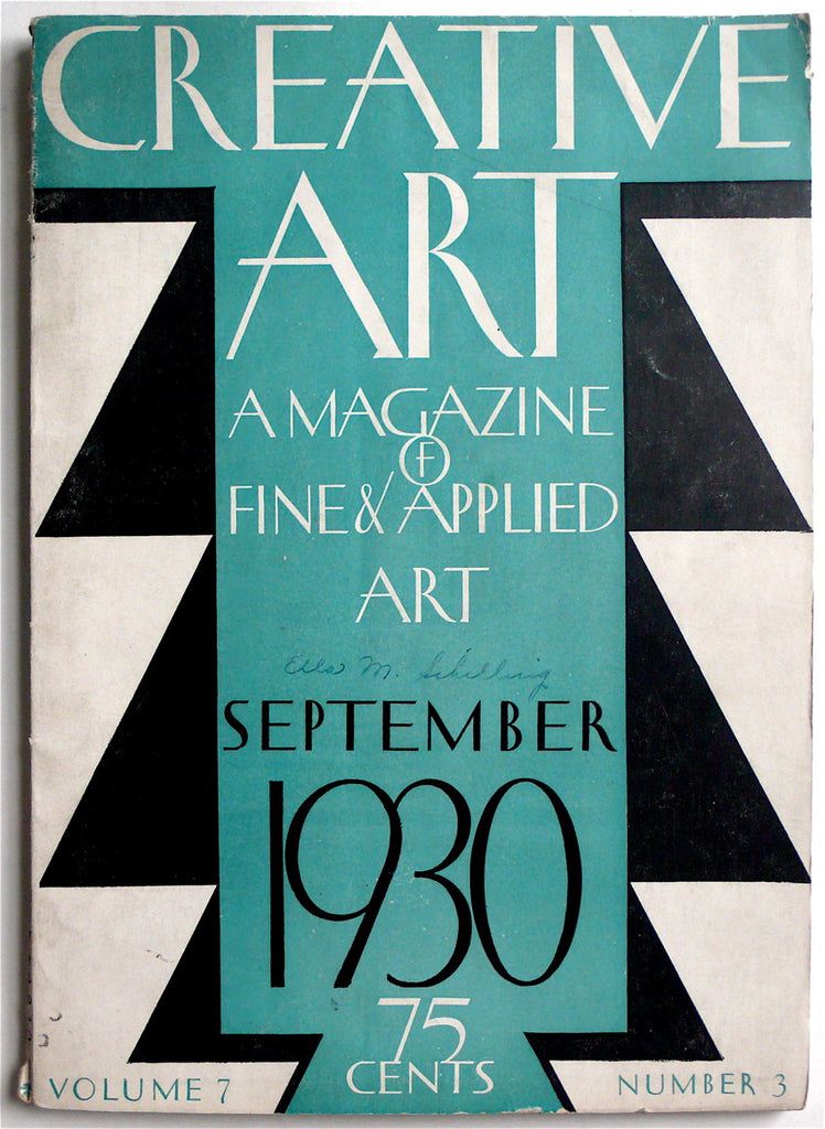 Creative Art September 1930