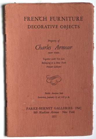 French Furniture Decorative Objects: Property of Charles Armour