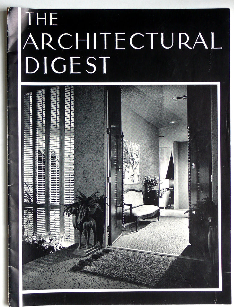 The Architectural Digest Winter 1963 prospectus