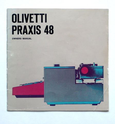 Olivetti Praxis 48 owner's manual