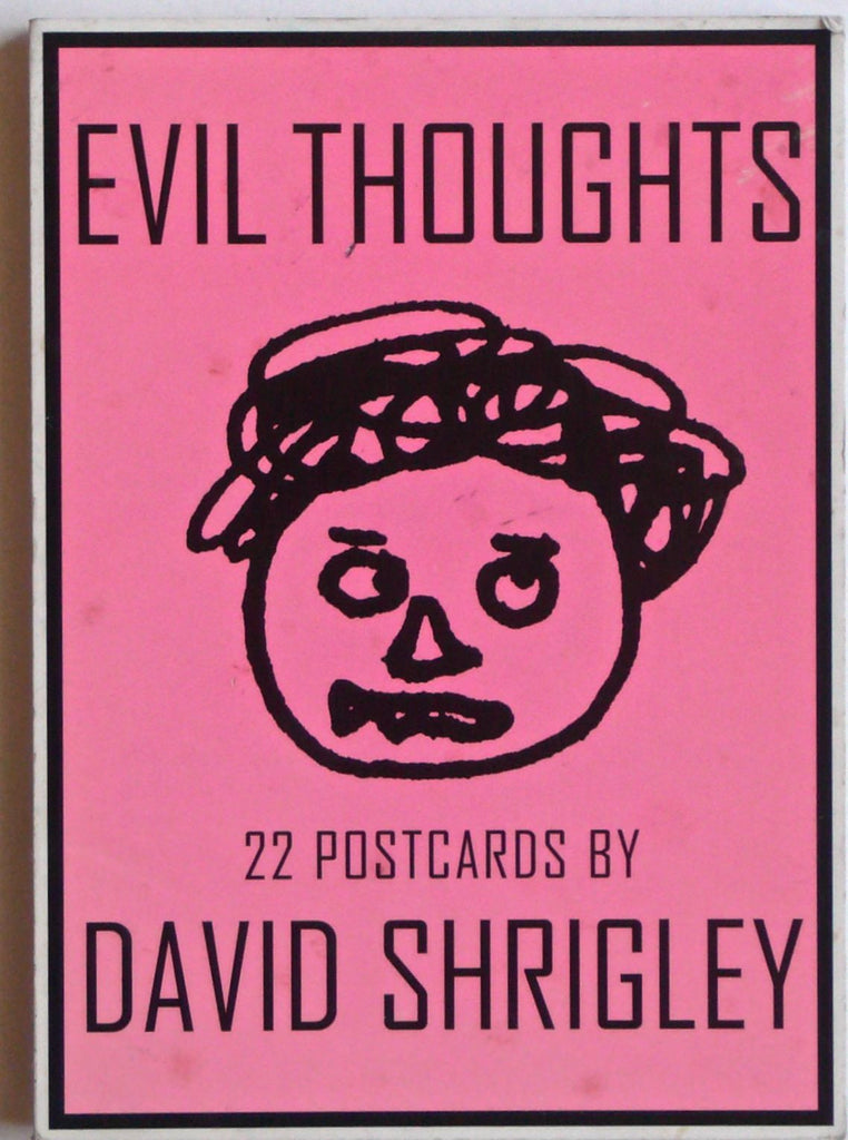 Evil Thoughts & Let's Wrestle by David Shrigley