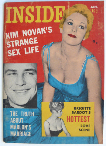 Inside magazine January 1958 Kim Novak