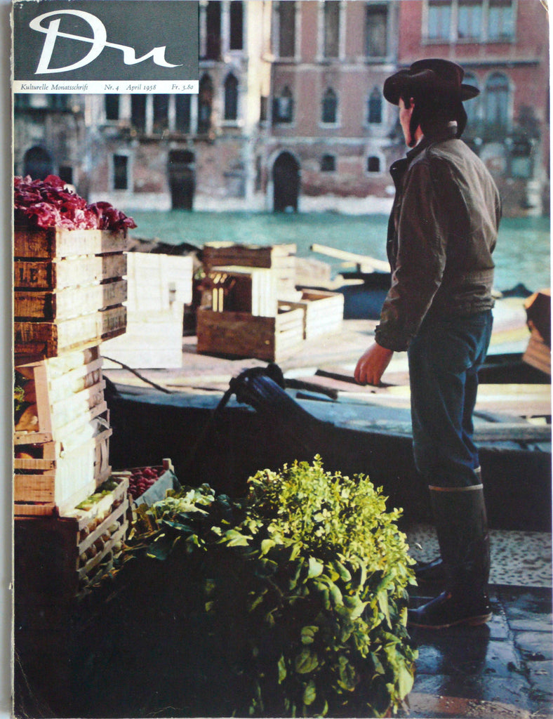 Du magazine April 1958 Venice issue