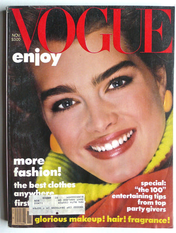 Vogue magazine November 1983 brooke shields