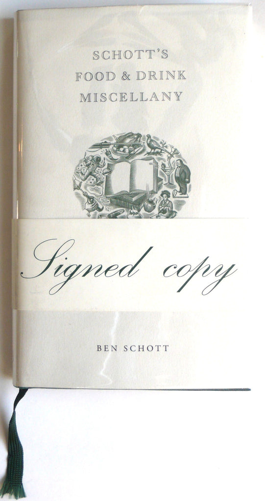 [signed] Schott's Food and Drink Miscellany