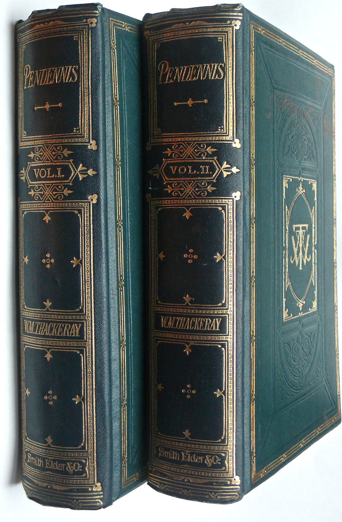 Pendennis by William Thackeray in two volumes 1869