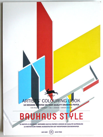 Bauhaus Style Artists' Colouring Book
